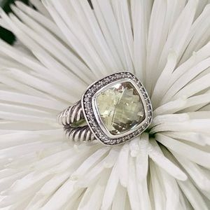 "David Yurman ""Albion"" diamond and prasiolite ring"